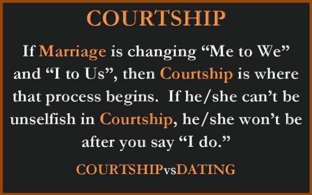 Courtship vs dating blog