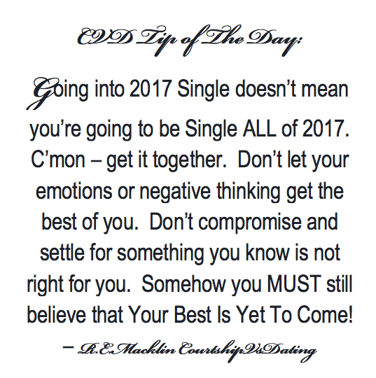 Single Going Into 2017