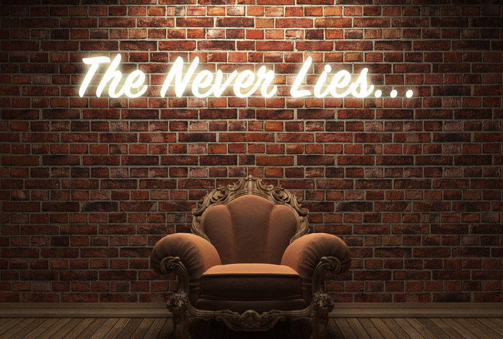 "THE ""NEVER"" LIES…"